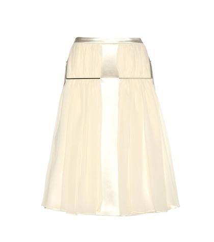 Christopher Kane - Satin And Silk Skirt - Neutrals