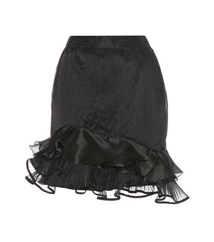 Isabel Marant - Vendel Pleated Silk-Blend Skirt - Black
