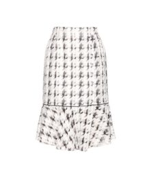 Nina Ricci - Embroidered Checked Skirt - White