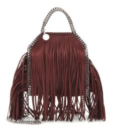Stella Mccartney - Falabella Mini Fringed Shoulder Bag - Red
