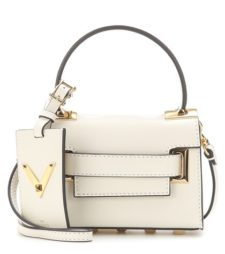 Valentino - My Rockstud Mini Leather Shoulder Bag - White