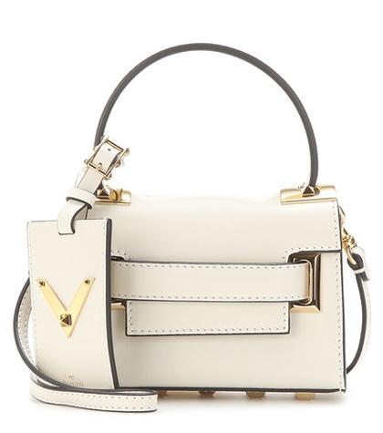 Valentino - My Rockstud Mini Leather Shoulder Bag - White