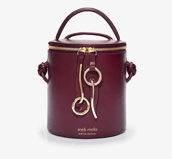 Meli Melo - Olivia Palermo's Hue Severine Bucket Bag - Burgundy
