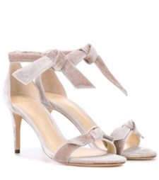 Alexandre Birman - New Clarita Midi Velvet Sandals