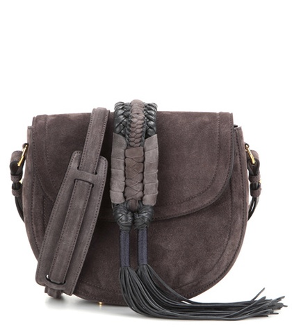Altuzarra - Ghianda Knot Saddle Suede Shoulder Bag