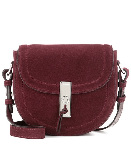 Altuzarra - Ghianda Saddle Mini Suede Crossbody Bag
