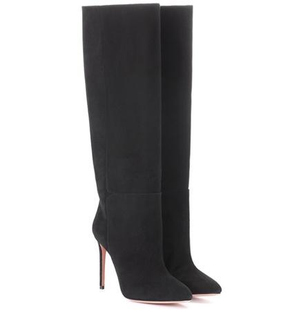 Aquazzura - Brera 105 Suede Boots - Black