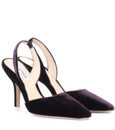 Attico - Velvet Sling-Back Pumps - Purple