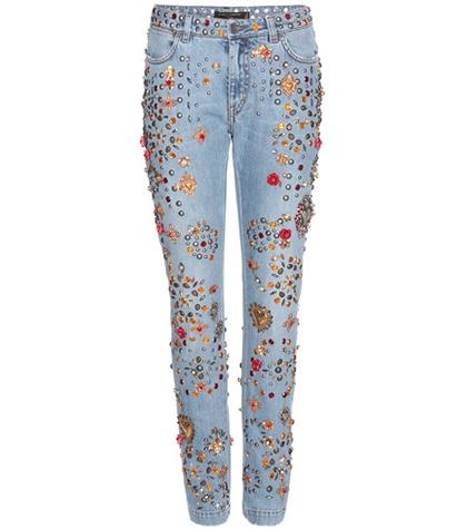 Dolce & Gabbana - Embellished Boyfriend Jeans