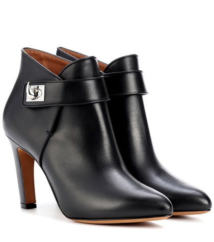 Givenchy - Shark Leather Ankle Boots - Black