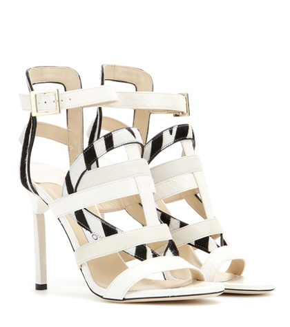 Jimmy Choo - Vanquish Snakeskin And Leather Sandals