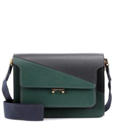 Marni - Trunk Leather Shoulder Bag - Black