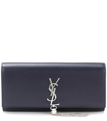 Saint Laurent - Classic Kate Tassel Leather Clutch - Blue