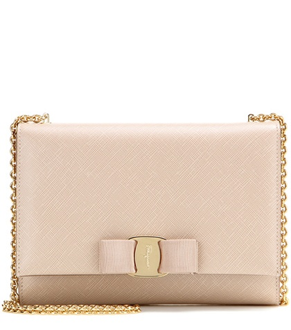 Salvatore Ferragamo - Ginny Small Leather Shoulder Bag