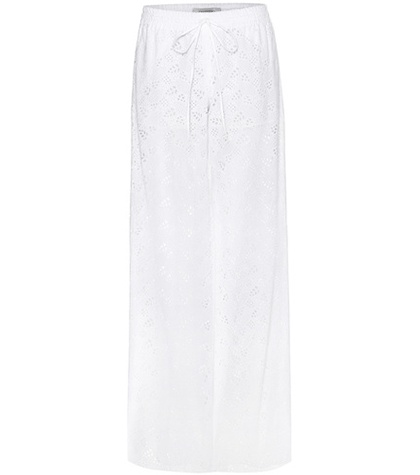 Valentino - Broderie Anglaise Wide-Leg Trousers