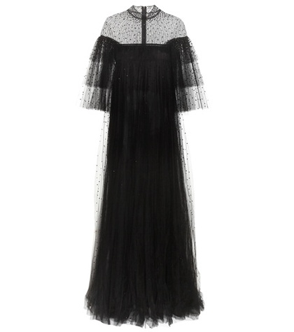 Valentino - Crystal-Embellished Tulle Gown