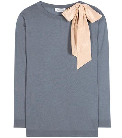 Valentino - Embellished Virgin Wool Sweater