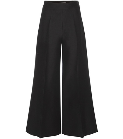 Valentino - High-Waisted Wool-Blend Trousers