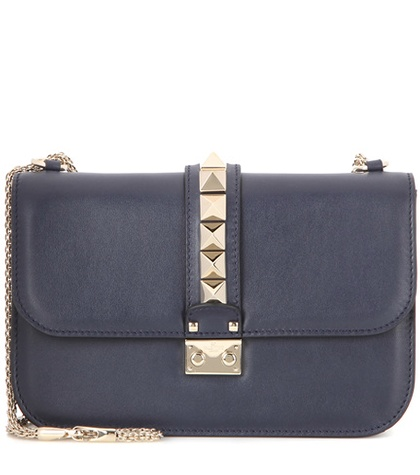 Valentino - Lock Medium Leather Shoulder Bag