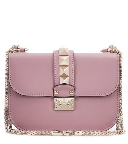 Valentino - Lock Medium Leather Shoulder Bag - Pink