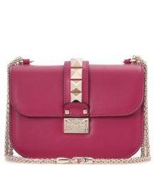 Valentino - Lock Medium Leather Shoulder Bag - Pink