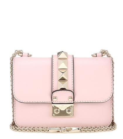 Valentino - Lock Mini Leather Shoulder Bag
