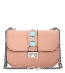 Valentino - Lock Small Leather Shoulder Bag