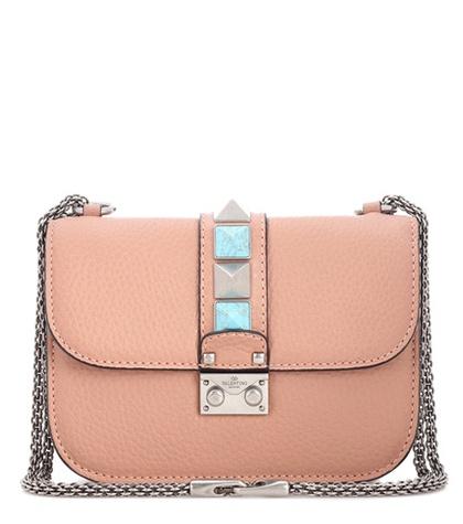 Valentino - Lock Small Leather Shoulder Bag