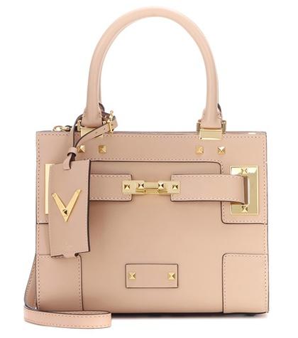 Valentino - My Rockstud Small Embellished Leather Shoulder Bag