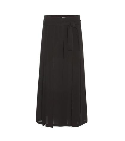 Valentino - Pleated Silk Culottes