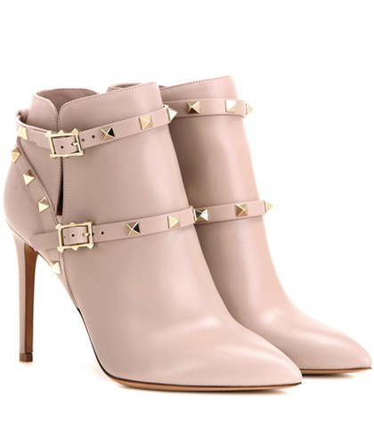 Valentino - Rockstud Leather Ankle Boots