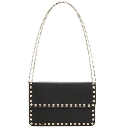 Valentino - Rockstud Leather Shoulder Bag