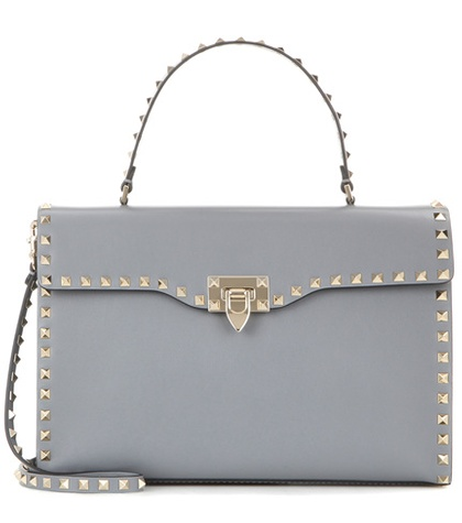 Valentino - Rockstud Leather Shoulder Bag
