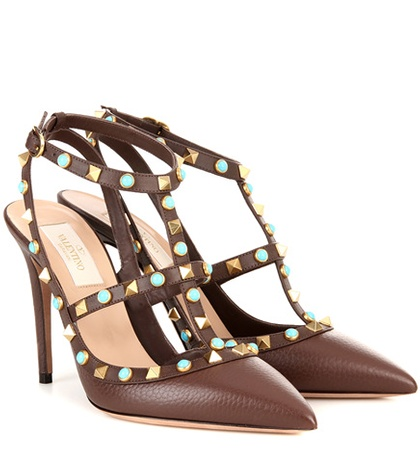 Valentino - Rockstud Rolling Leather Pumps