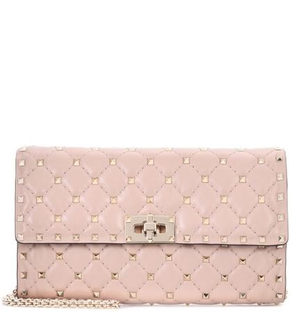 Valentino - Rockstud Spike Leather Shoulder Bag - Pink