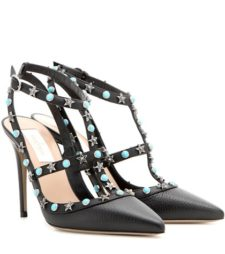 Valentino - Starstudded Leather Pumps