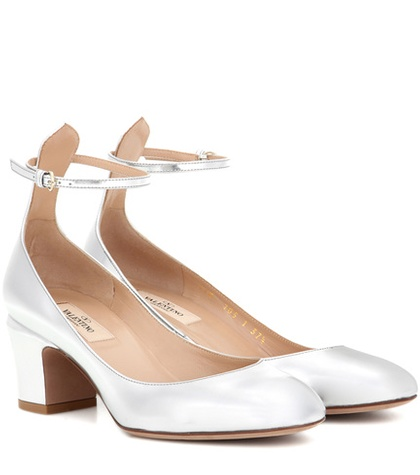 Valentino - Tan-Go Metallic Leather Pumps