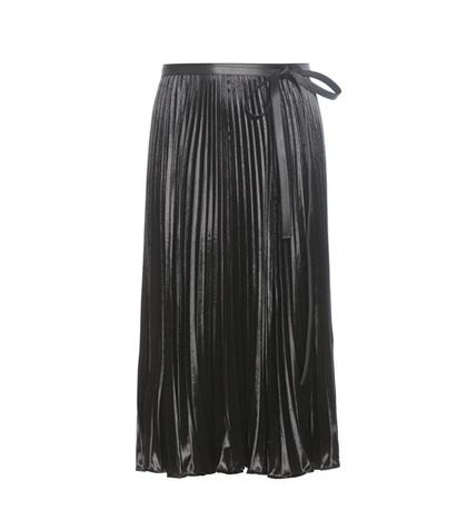 Valentino - Velvet Plissé Skirt