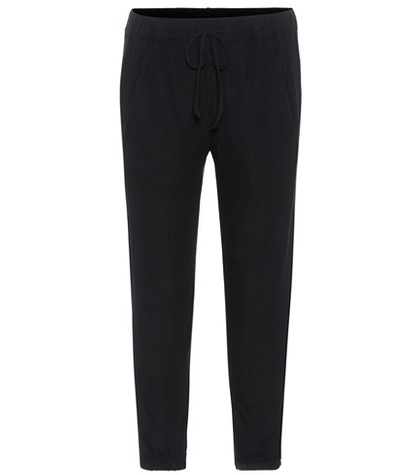 Velvet - Cropped Trousers - Black