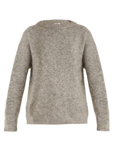 Acne Studios - Dramatic Round-Neck Brushed-Knit Sweater
