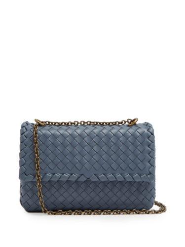 Bottega Veneta - Olimpia Baby Intrecciato Leather Shoulder Bag