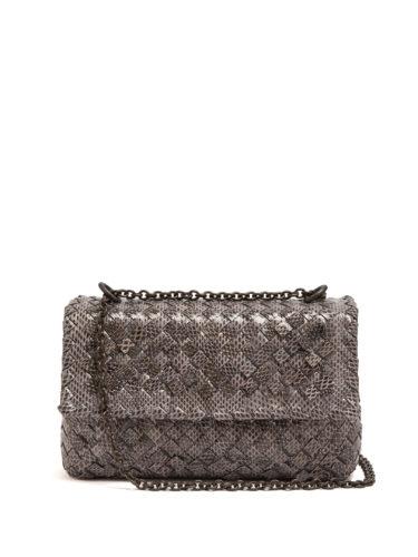 Bottega Veneta - Olimpia Intrecciato Water-Snake Shoulder Bag