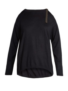Brunello Cucinelli - Cut-Out Shoulder Cashmere-Blend Sweater