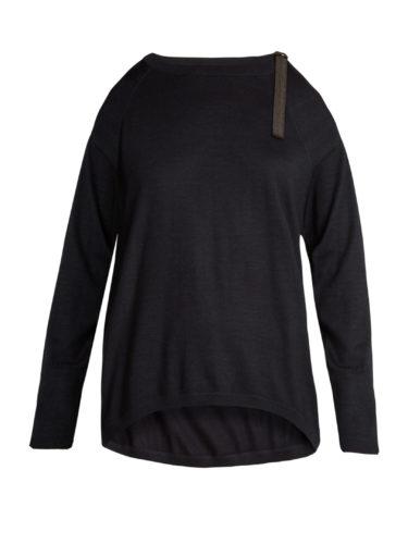 Brunello Cucinelli - Cut-Out Shoulder Cashmere-Blend Sweater
