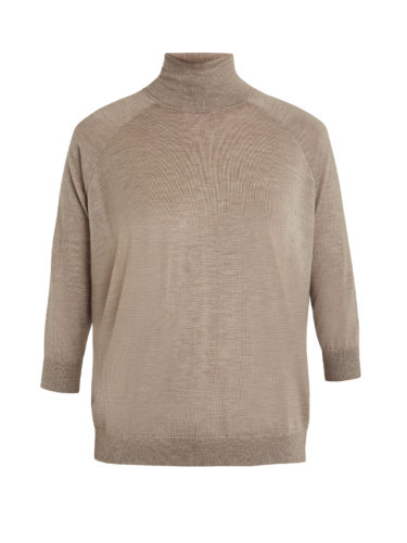Brunello Cucinelli - Roll-Neck Cashmere-Blend Sweater