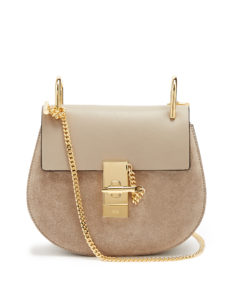 Chloé - Drew Mini Leather And Suede Cross-Body Bag