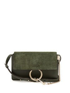 Chloé - Faye Small Suede And Leather Cross-Body Bag