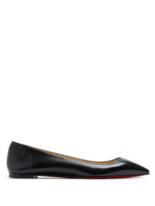 Christian Louboutin - Ballalla Point-Toe Leather Flats
