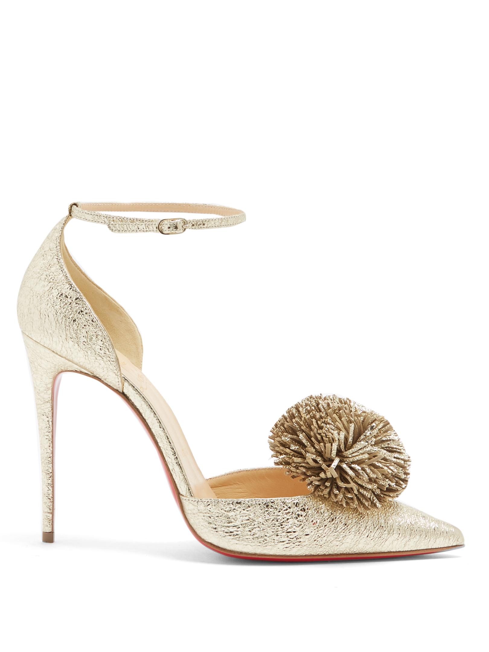 sports shoes bbae7 0e6d4 Christian Louboutin - Tsarou 100Mm Pompom-Embellished Leather Pumps
