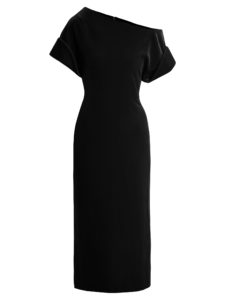 Christopher Kane - One-Shoulder Stretch-Velvet Midi Dress